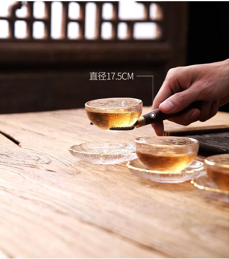 日式玻璃功夫茶具茶杯套装家用客厅网红泡茶盖碗小套办公室会客详细照片
