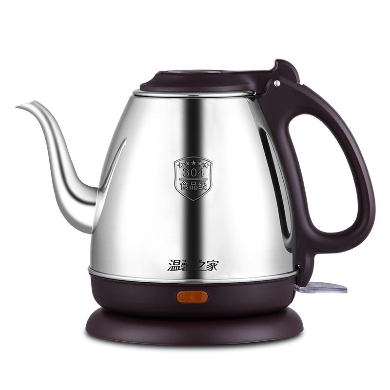 11月29日最新优惠温馨之家长嘴壶不锈钢家用小型烧水壶防干烧自动断电加热茶艺小壶