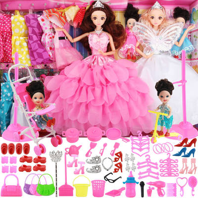 New product wedding dress Barbie doll large suit oversized gift box girl princess children toy dress-up gift