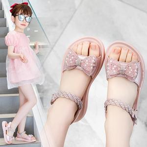 女童凉鞋2021年新款夏季女孩童鞋