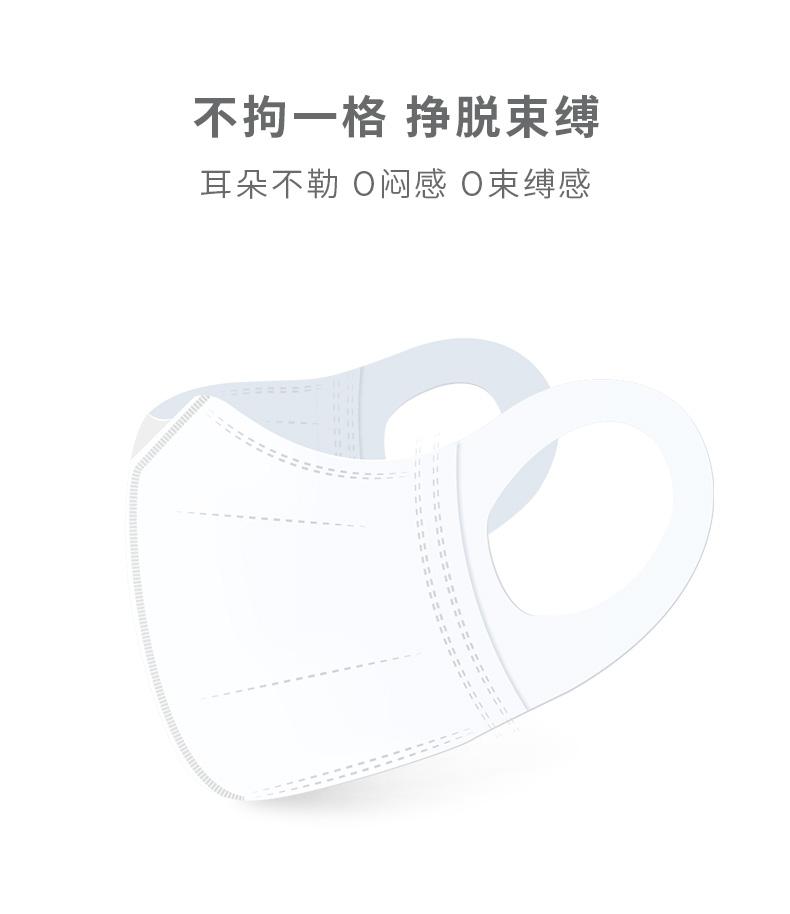 我们买过 unifree  成人/儿童一次性3D立体口罩 30个 有加大款 图5