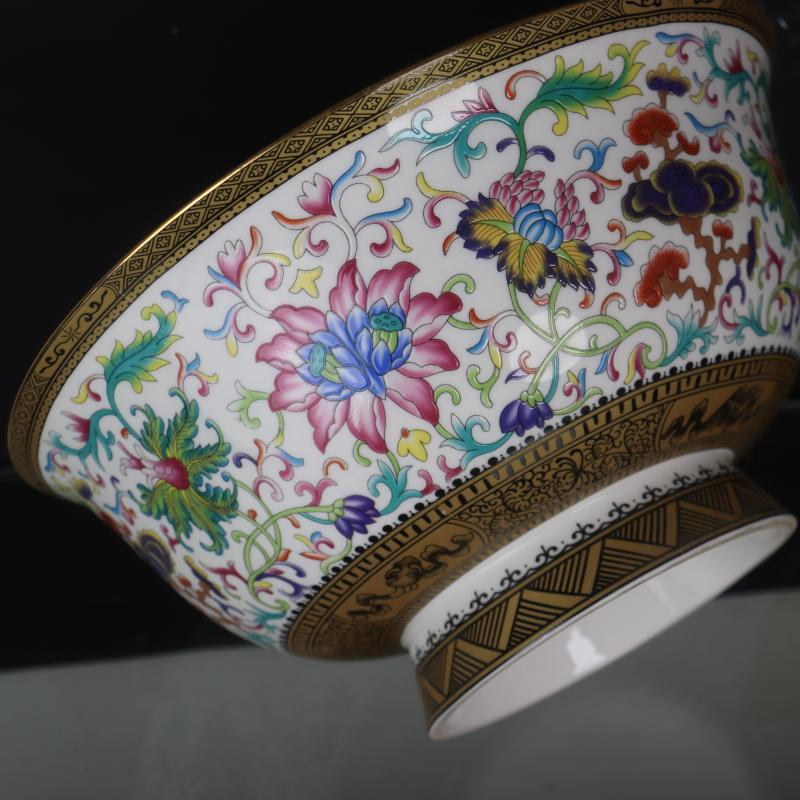 Antique crafts porcelain big rainbow such use household of Chinese style restoring ancient ways furnishing articles collection of the qing qianlong pastel pattern to use