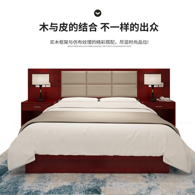 Nội thất khách sạn phòng tiêu chuẩn đầy đủ bộ giường tùy chỉnh và đồ ăn sáng nội thất giường đơn TV tủ mới Trung Quốc phong cách giường khách sạn thể hiện - Nội thất khách sạn