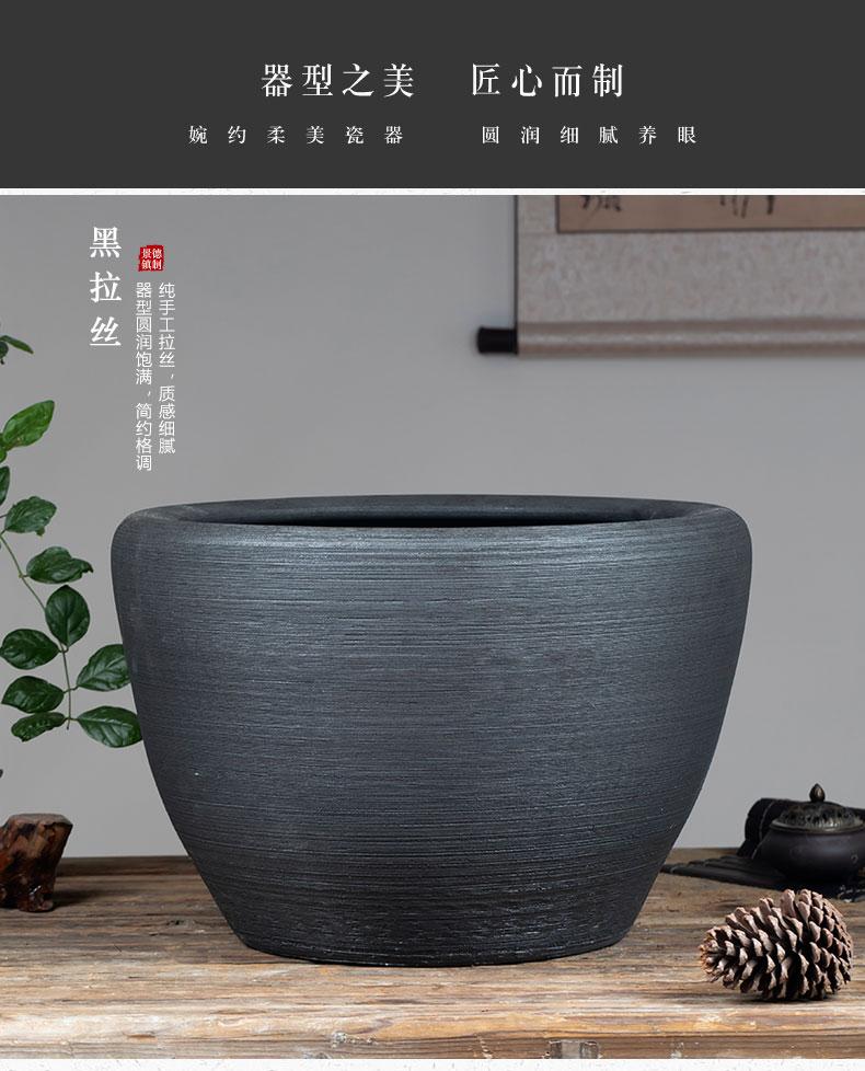 Jingdezhen ceramic aquarium water lily big crock pot lotus bowl lotus basin courtyard tank hotel brocade carp cylinder furnishing articles