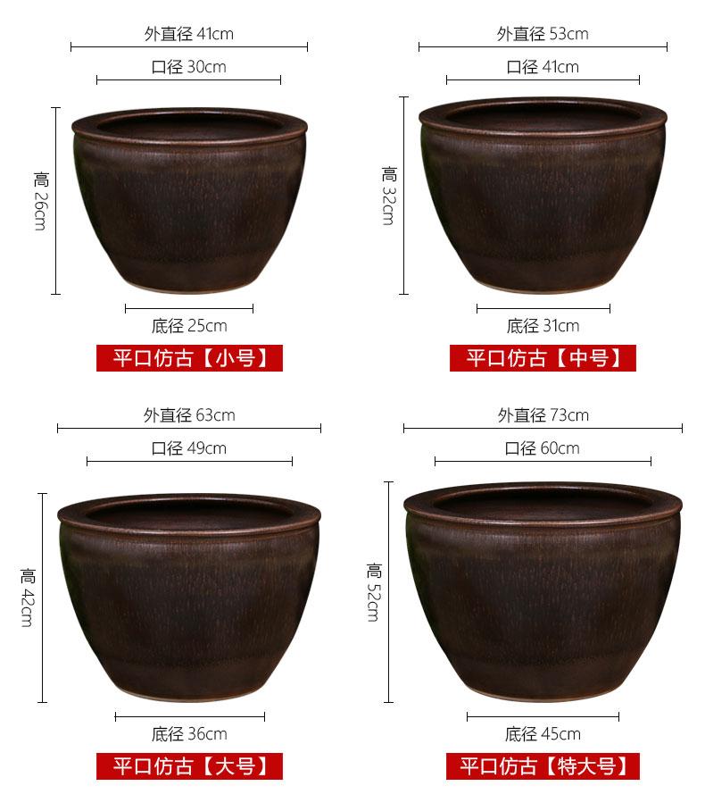 Jingdezhen ceramic VAT manual cylinder feng shui home fish basin to the lotus pond lily bowl lotus goldfish bowl courtyard cylinder