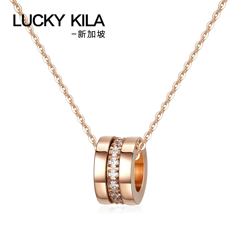新加坡设计师品牌 LUCKY KILA 三环镶钻石 18K镀金锁骨项链 天猫优惠券折后¥128包邮(¥678-550)京东¥429