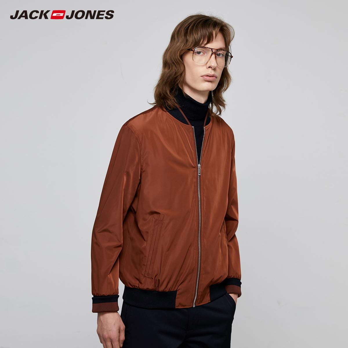 多色可选!杰克琼斯休闲纯色棒球外套夹克