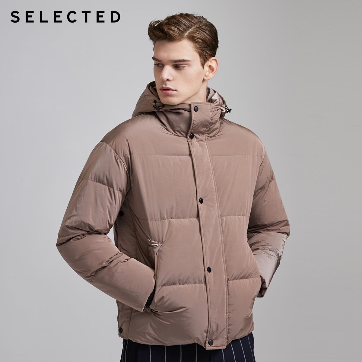 SELECTED 思莱德 男式加厚短款连帽羽绒服外套 双重优惠折后¥199.5包邮 2色可选