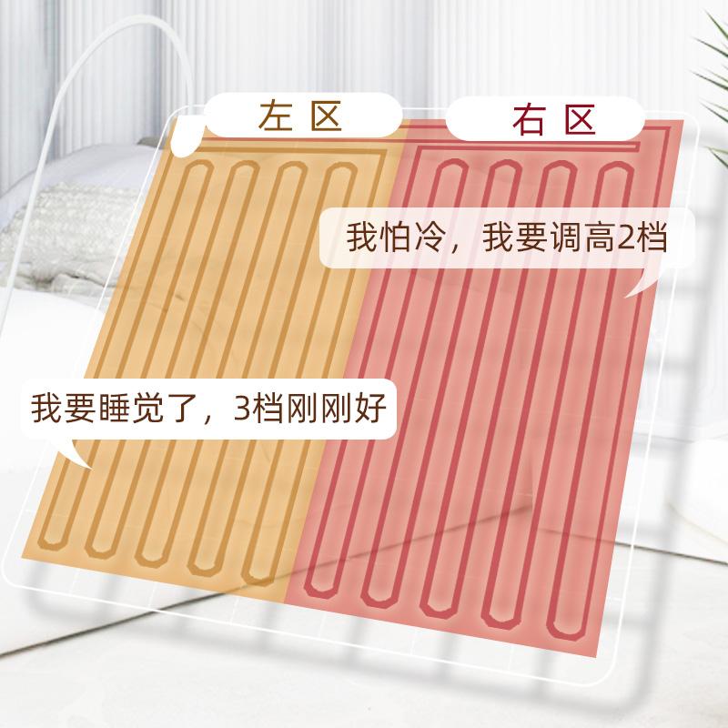 西柏坡2019新款除螨除湿电热毯单人双人双控调温三人大家用电褥子