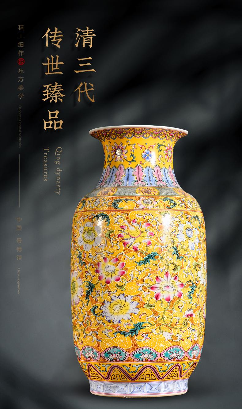 Jingdezhen porcelain enamel see colour of large vases, new Chinese style flower arrangement sitting room TV ark, rich ancient frame decorative furnishing articles