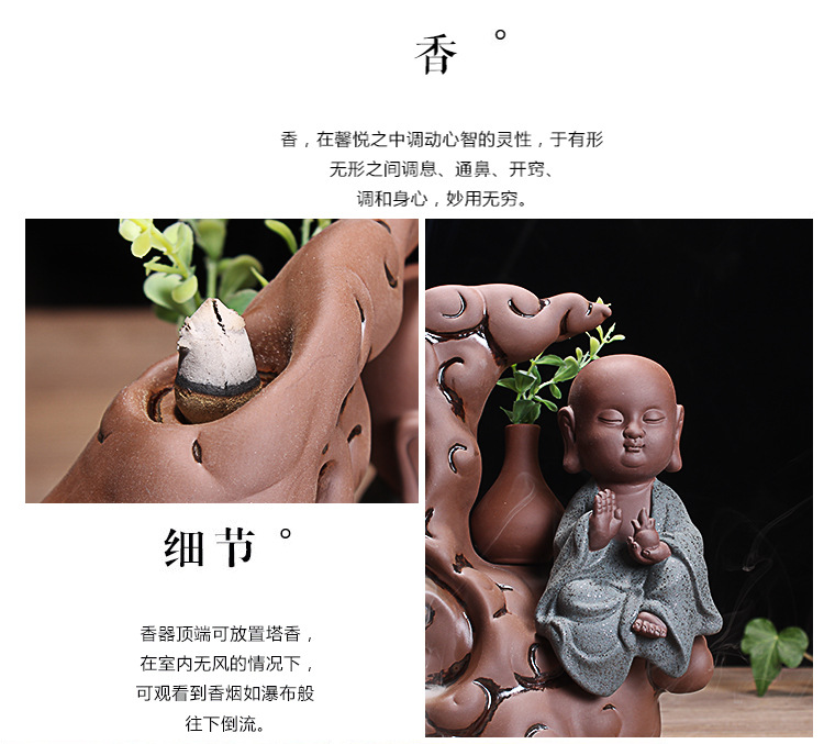 Creative backflow censer ceramic smoked the present young monk ta bedroom there are handicraft furnishing articles at home