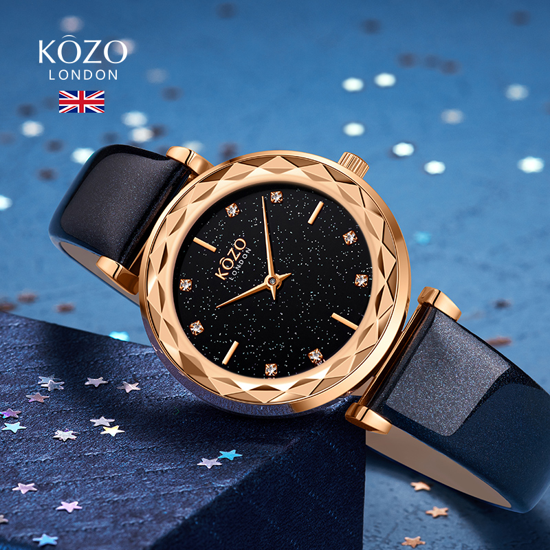 kozo手表女时尚满天星腕表ins潮流女表 小众轻奢女士手表简约气质