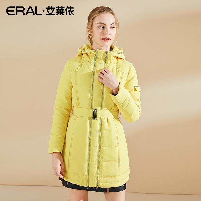 ERAL/依冬装修身中长款双拉链羽绒服女中长款-6061D