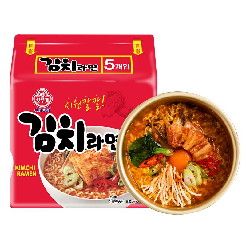 韩国进口不倒翁泡菜拉面方便面韩式10袋