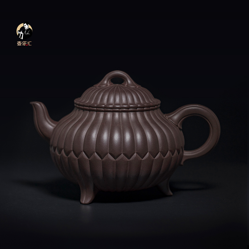 (Sold to appreciate) Shen Jianqiang master purple sand pot works purple mud three ding chrysanthemum pot price consulting customer service