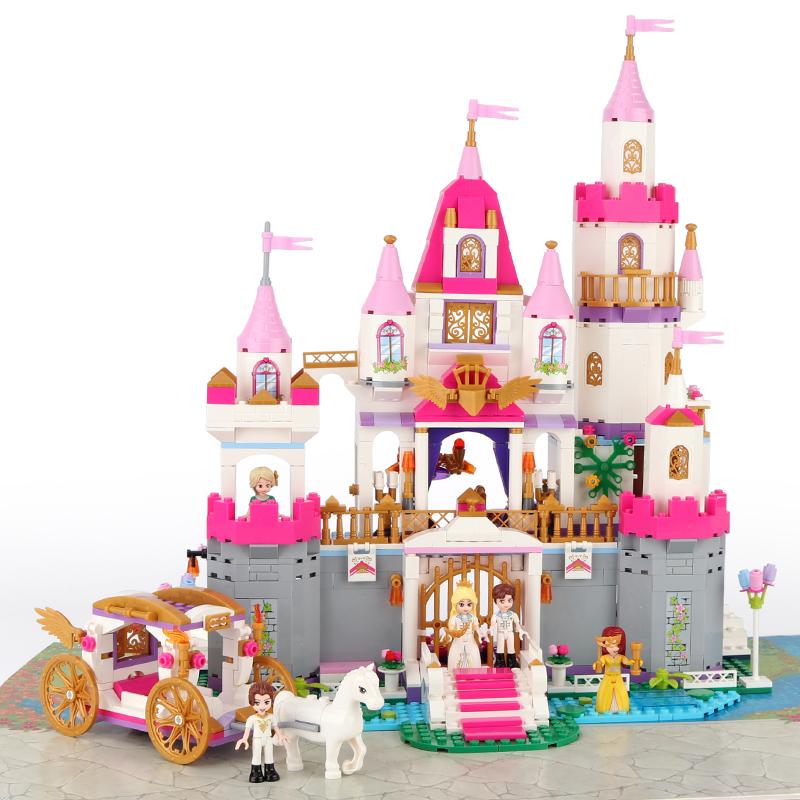 啟蒙積木樂高玩具莉婭公主系列女孩城堡益智拼裝馬車8房子10歲12