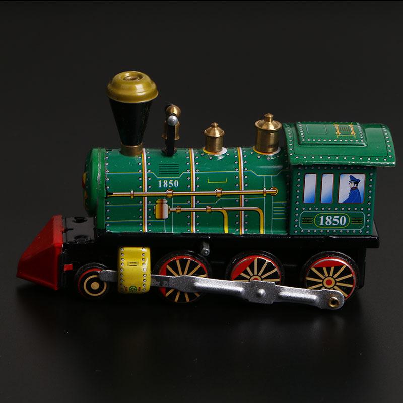 80后复古v玩具玩具老经典火车头铁皮发条皮玩具上链地摊儿童