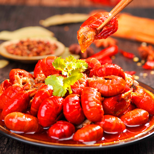 十三香蒜香麻辣蝦尾加熱即食