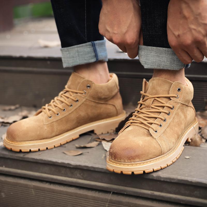 马丁靴男秋冬季加绒英伦风高帮男鞋男工装潮鞋短鞋子中帮靴子军靴