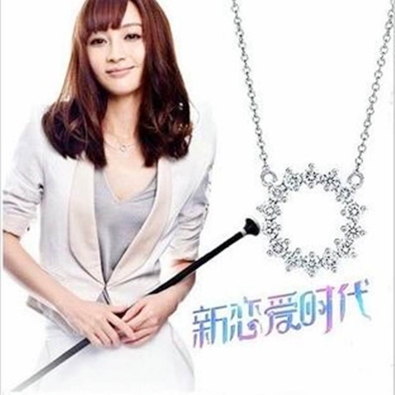 新恋爱时代姚笛 邓小可同款项链 MINI摩天轮锁骨项链,韩版饰品