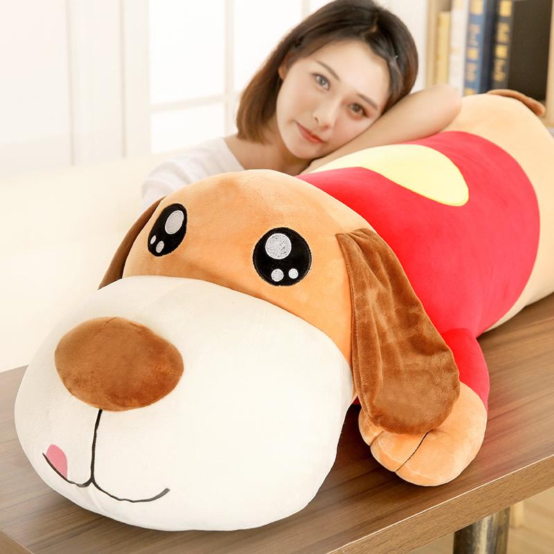狗狗毛绒玩具趴趴狗睡觉着的长条公仔男女抱枕床上生款可爱布娃娃