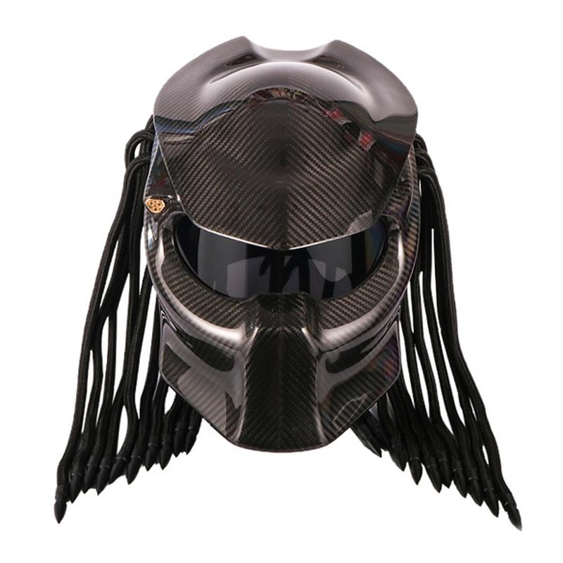 个性全覆式异形复古机车全盔