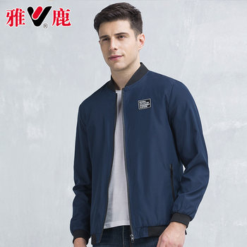 Yalu 2019 spring and autumn new trend autumn coat men's baseball collar business casual jacket handsome shirt