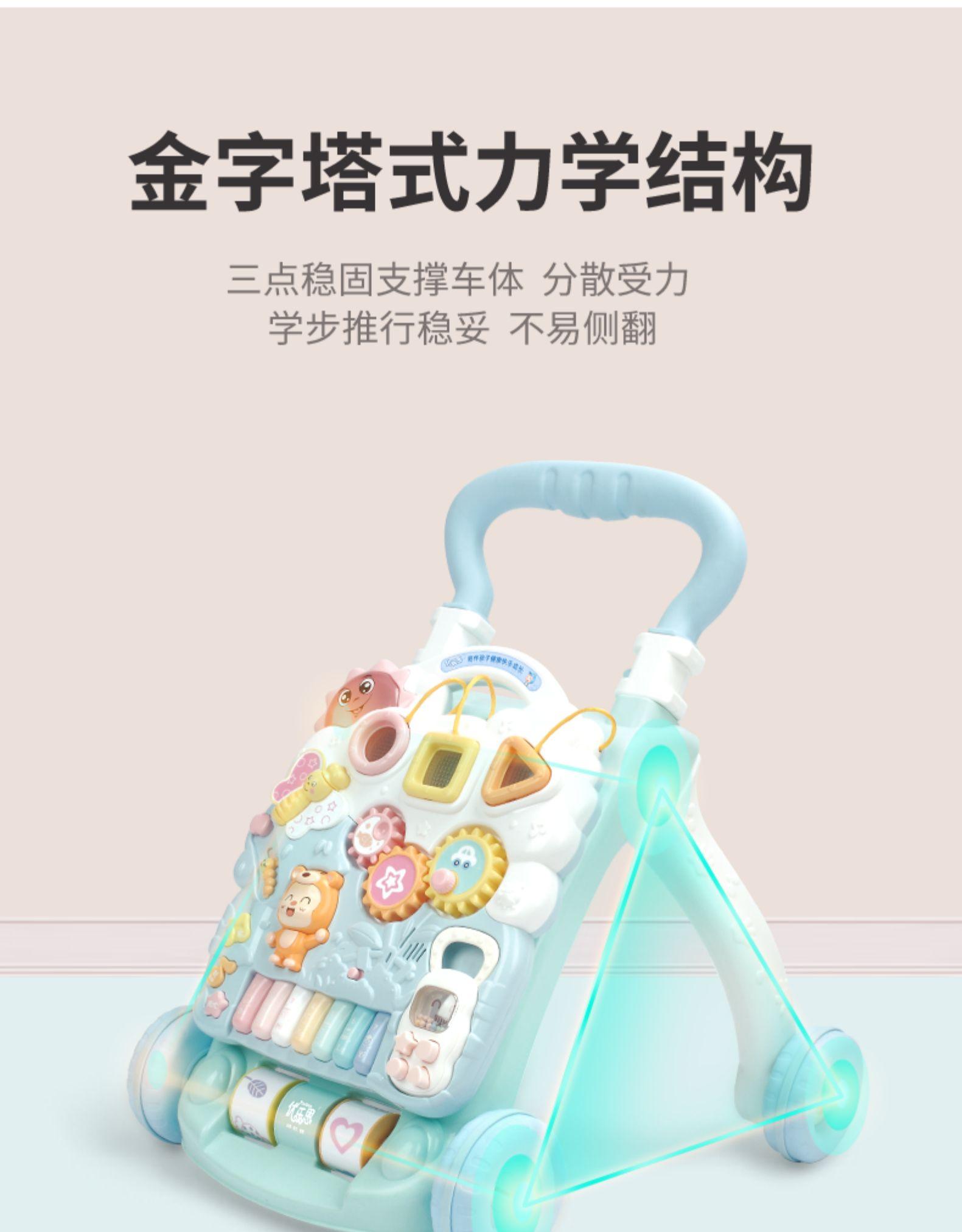 优乐恩宝宝婴儿多功能防侧翻型腿手推车学步车岁儿童助步车玩具详细照片