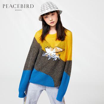 Мохер свободный свитер зима свинья год печать цвет hit полоса волосы одежда тайпин птица outlets женщина, цена 1791 руб