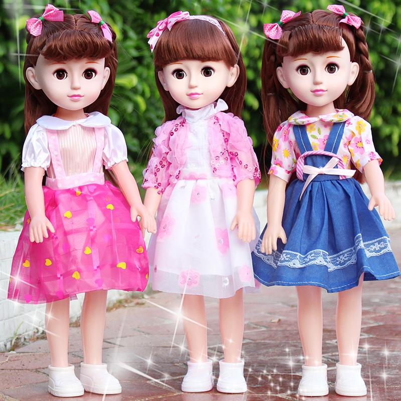 会说话的智能馨蕾芭比洋娃娃女孩仿真套装女孩玩具公主单个超大号