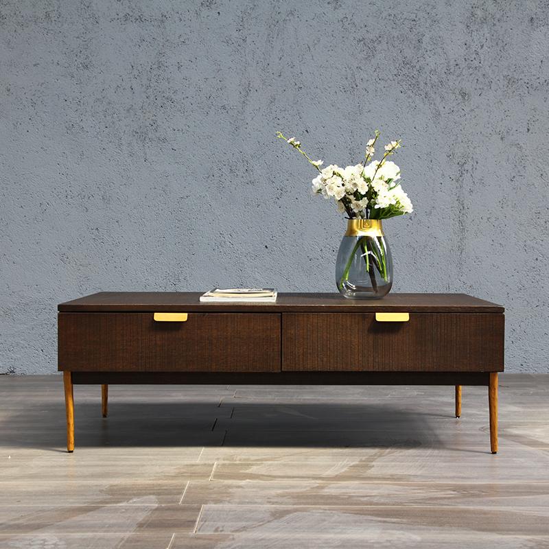 Phục hồi ánh sáng sang trọng hiện đại nhập khẩu gỗ rắn thiết kế nội thất nhà bàn cà phê đơn giản gỗ sồi Mỹ - Bộ đồ nội thất