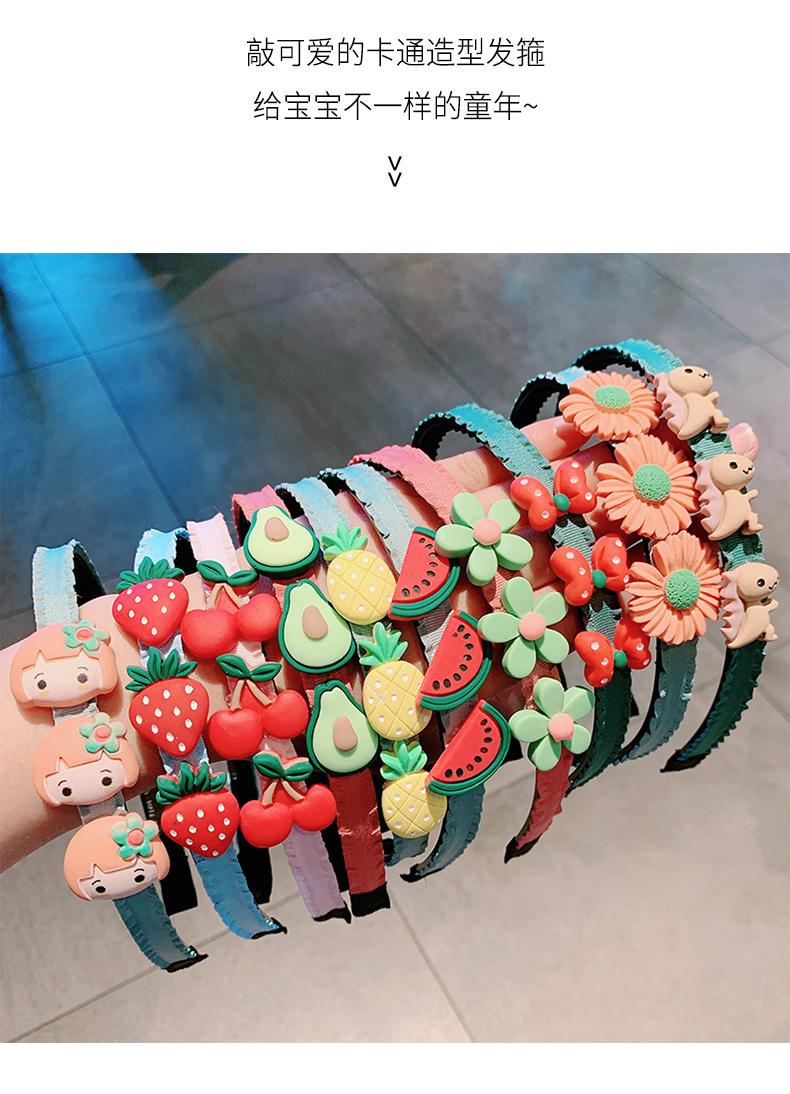 韩国儿童花朵头饰髮夹髮箍女童防滑带齿宝宝可爱超萌婴儿碎髮髮箍详细照片