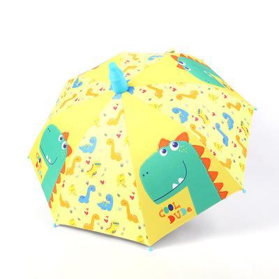 黑胶半自动防夹儿童伞男女童幼儿园宝宝  卡通防晒小学生上学雨具