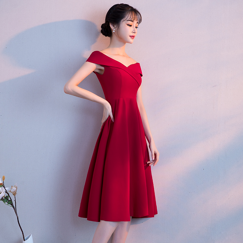 b73ba57bf Pregnant women toast clothing bride 2019 new spring high waist large size  cover belly short paragraph wedding dress skirt female