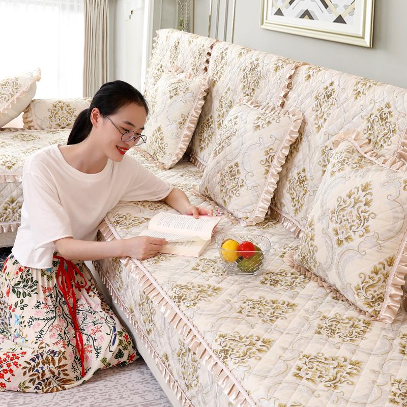 沙发垫四季通型用布艺家用坐垫防滑简约现代全盖全包万能套巾套罩