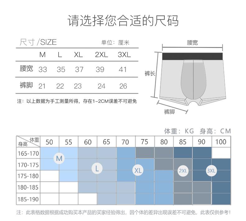 中国航天内衣供应商 康纶航天 兰精莫代尔混纺 男平角内裤 2条 图9