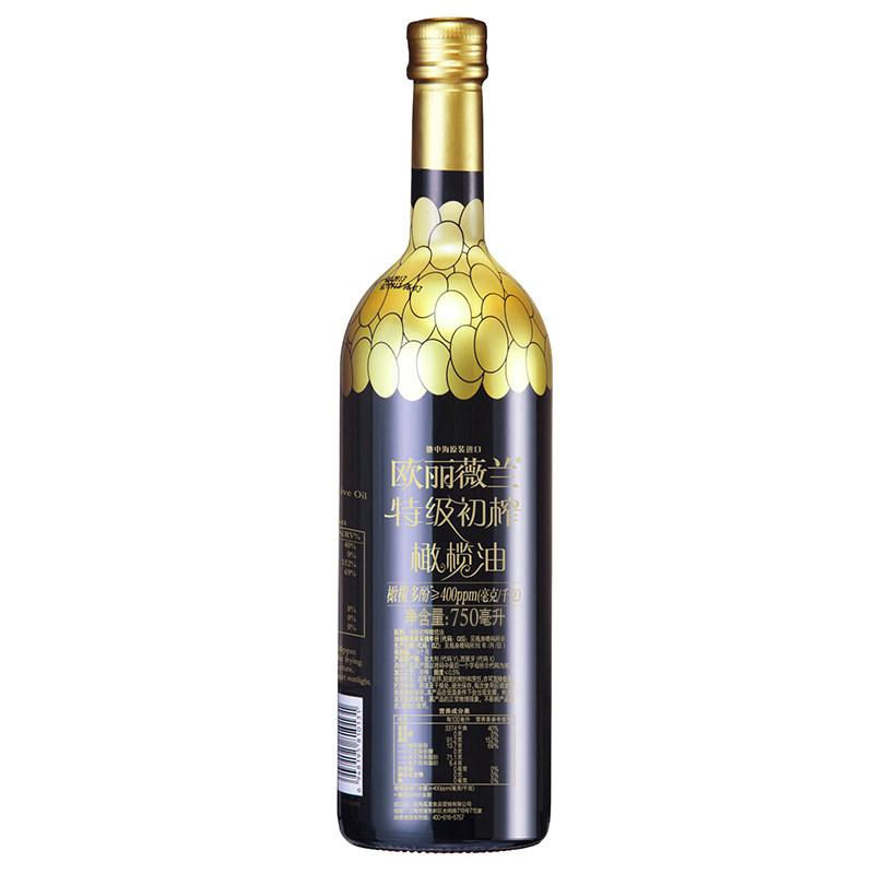 欧丽薇兰高多酚橄榄特级初榨橄榄油750ml食用油