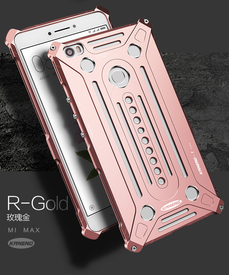 KANENG Powerful Aluminum Shell Shockproof Aerospace Metal Case Cover for Xiaomi Mi Max