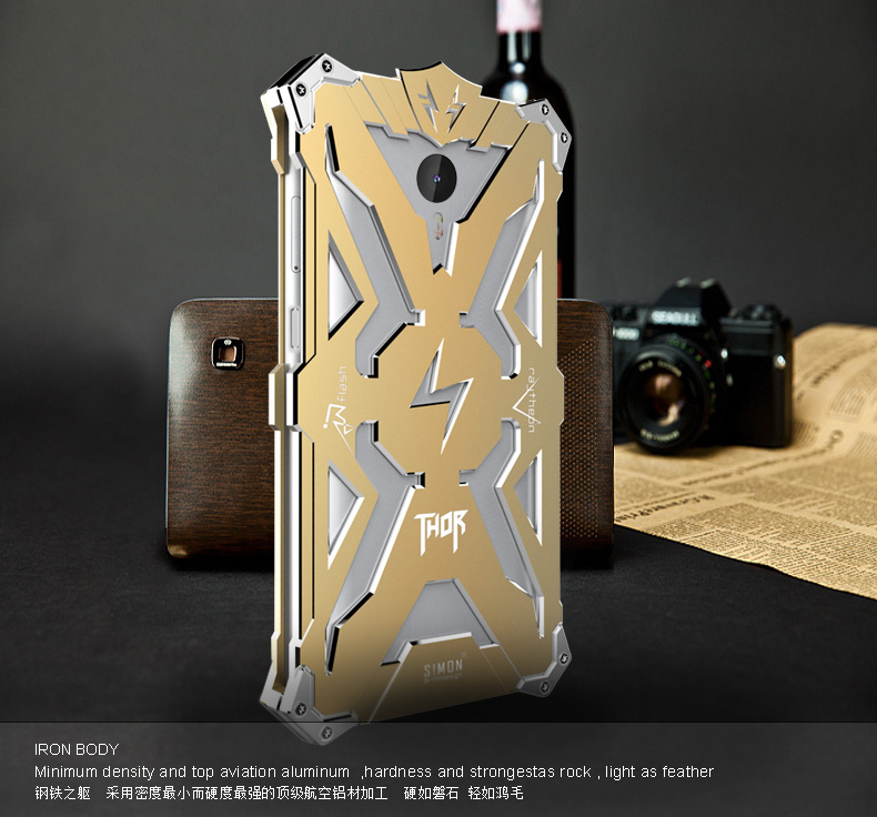 SIMON THOR Aviation Aluminum Alloy Shockproof Armor Metal Case Cover for LeTV Le 1 Pro X800