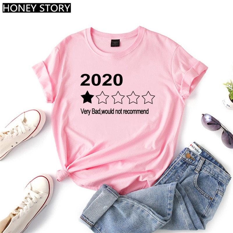 KK正韓女裝2020 Very Bad Would Not Recommend Funny T shirt Women Tops
