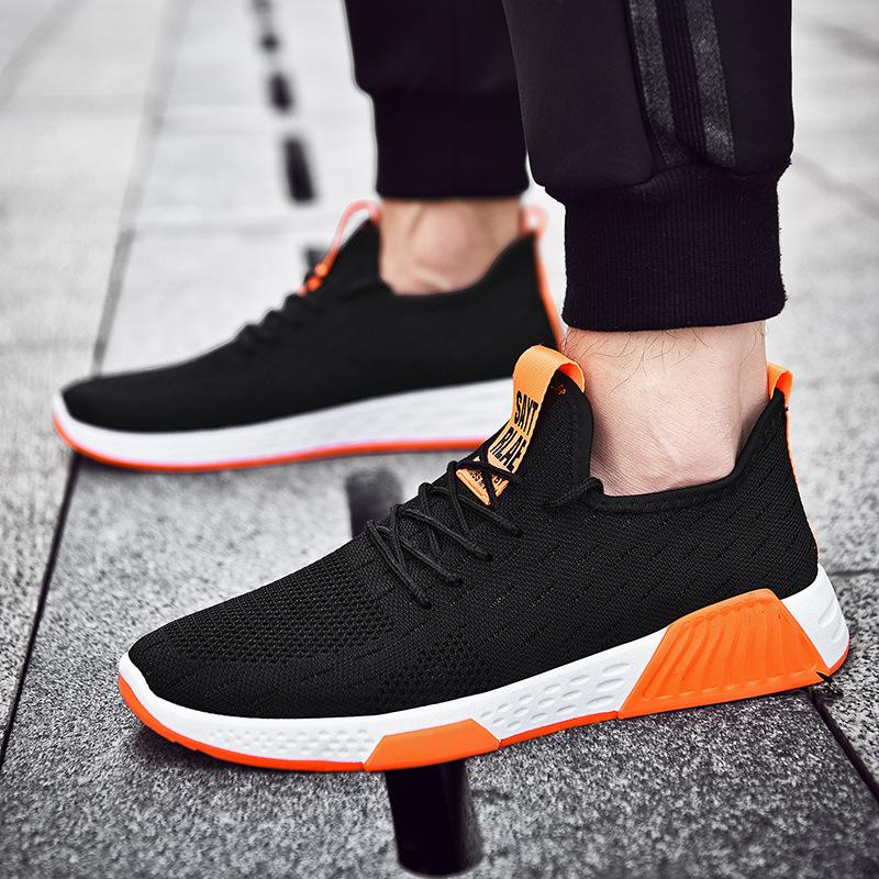 新款男士休闲运动鞋镂空网鞋