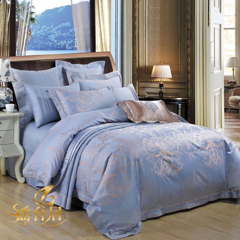 Nhật Bản mua bộ đồ giường cao cấp bốn mảnh màu trắng tinh khiết theo phong cách châu Âu cống hoa bằng vải satin satin thêu thêu chăn sáu hoặc tám mươi - Bộ đồ giường trẻ em