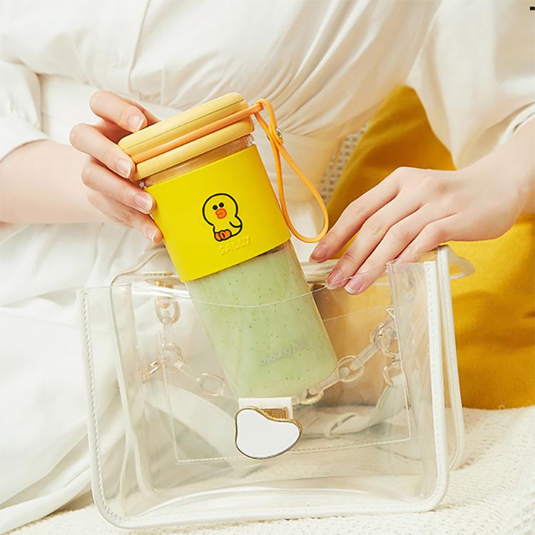 九陽榨汁機line家用水果小型便攜式電動多功能迷你果汁機榨汁杯