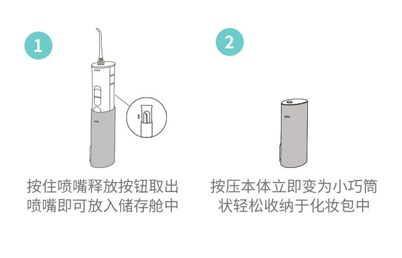 松下 冲牙器 便携式牙缝水牙线 口腔清洁 图6