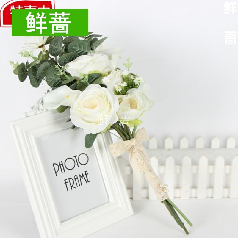 Photo studio photography photo props original bridal hand bouquet Wedding new travel photo simulation Korean wedding photo bouquet