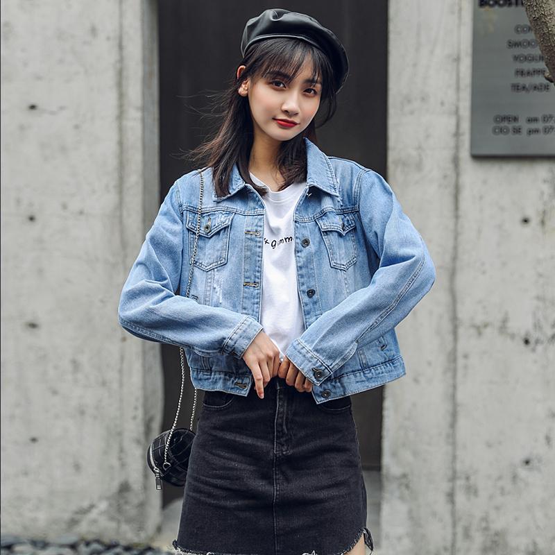 网红牛仔外套女短款学生韩版修身2020新款春装小香风上衣女潮ins