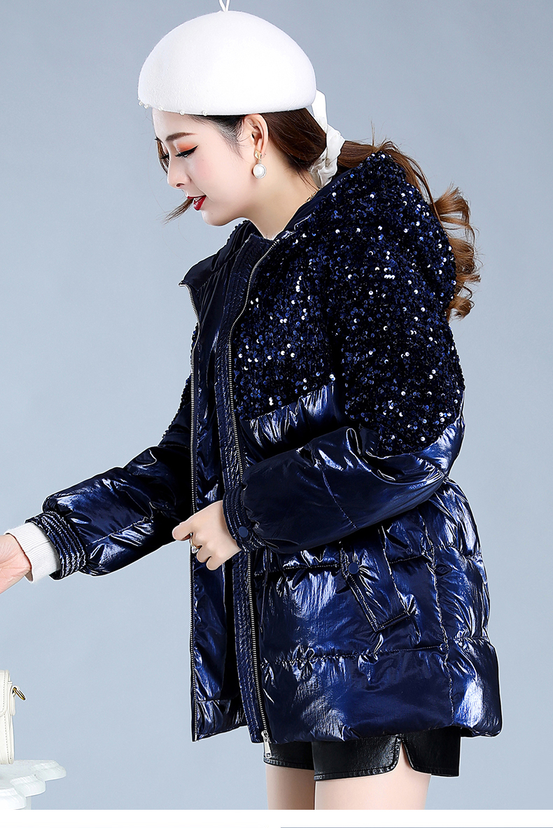 Bright-faced down cotton clothing women's long-term winter 2020 new thick warm hooded cotton wool cotton jacket tide 50 Online shopping Bangladesh
