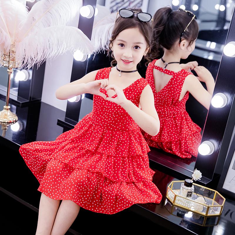 网红夏款短袖女童仙女风2020新款蓬纱连衣裙中大童小女孩洋气女童