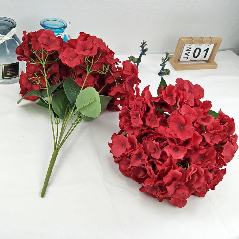 7头双片婚庆绣球装饰v婚庆婚庆欧式绣绣球把束球花仿真花W39