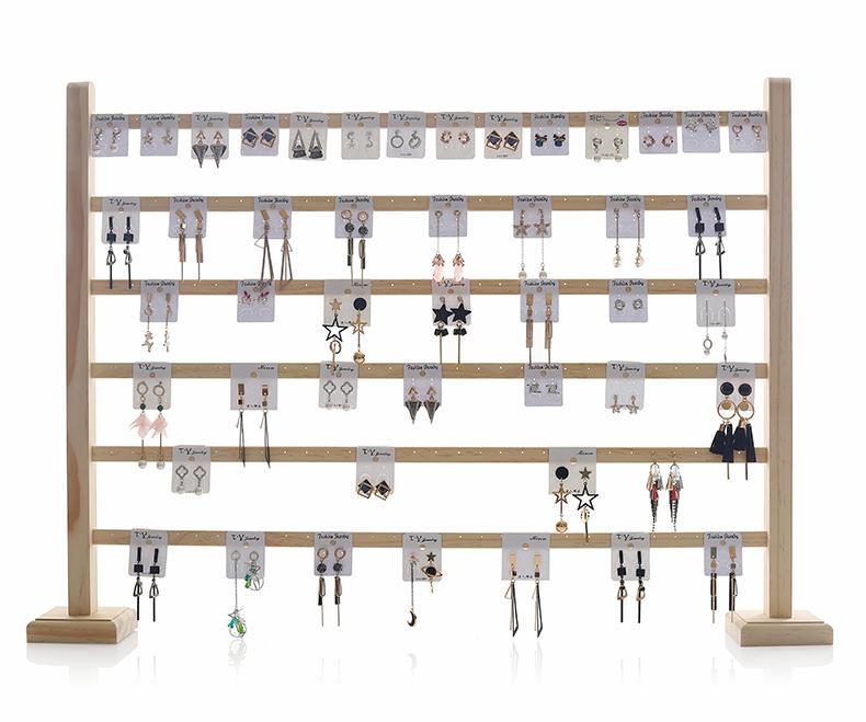 耳环架挂墙首饰架收纳大容量耳饰卡纸摆摊道具耳针架子饰品展示架详细照片